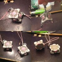 Friendship Charm Companion Cube by ChibiSilverWings