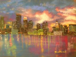 Boston Skyline by ltuininga
