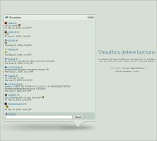 Shoutbox delete buttons by ScUme
