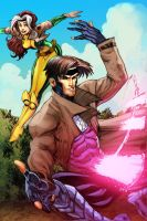 Gambit and Rogue colors by thejeremydale