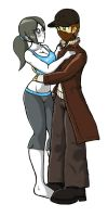 Wii Fit Trainer x Aiden Pearce by WaRrior9100