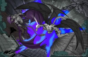 Epic Battle by shadowpantherkat