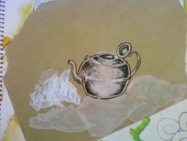 Collage Teapot by tattoo-parlour