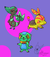 Black and White starters LOL by GoldFlareon