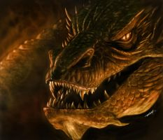 Smaug Digital Painting by RAM by ramstudios1