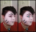 Makeup Test: Squee Valentine by flannelRaptors