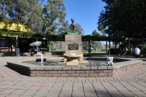 Dog on the Tuckerbox and Fella by OpalMist
