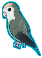 Gift : Peaches the Lovebird by chiimeraa