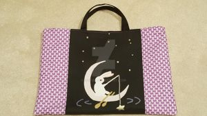 Bunny Tote: Midnight Fishing by Seiyul
