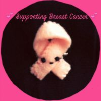 Breast Cancer Ribbon Plush Pin by PinkChocolate14