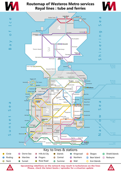 Routemap of Westeros Metro by WilliamTr