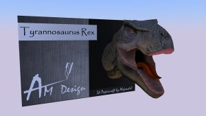 T rex papercraft Free Sample. by Alejandr0-M