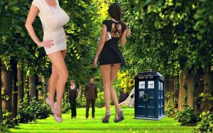 doctor who  in giantess wonderland by kong25