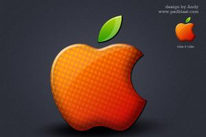 Glossy Apple logo by psdblast