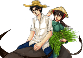 APH: Country Life :Thai'Viet by kaiba6