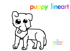 puppy lineart! by ThatAnimeDude