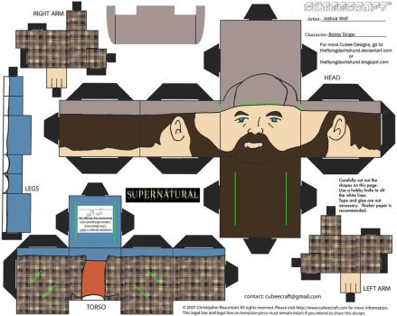 CWP4: Bobby Singer Cubee by TheFlyingDachshund