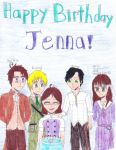 Happy (Late) B-Day Jenna ^^ 001 by SerinaElric