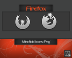 Firefox Minefield Icons by vi20RickrMetal12us