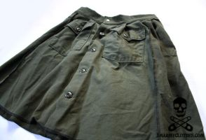 Army Fatigues Upcycled Skirt 7 by smarmy-clothes