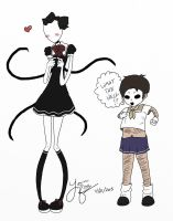 Slendy and Tim are so KAWAII by CaramelMoelleux