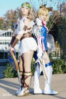Sophitia and Cassandra by ivettepuig