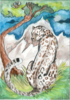 Watercolor panther by Ragthanatos