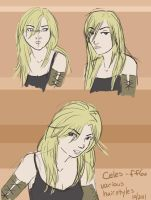 FF6 - Celes and her hair again by orinocou