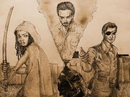 Three Walking Dead by Chrono-Kira