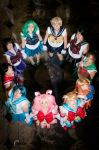 Sailor Scouts at CONvergence by thatbloodypirate