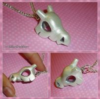 Pokemon - Shiny Cubone Skull Necklace - PKMN Charm