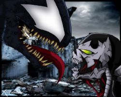 Venom VS Spawn by xericho