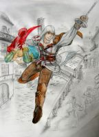 Ezio to the rescue by Mushi13