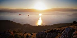 Paragliding from Galicica by hypertech