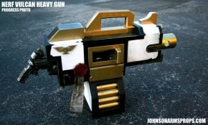 Custom Nerf Vulcan Heavy Bolter Progress Photo by JohnsonArms