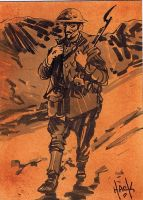 Cult Stuff WWI sketchcard 8 by RobertHack