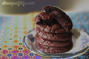 Triple Chocolate Cookies by chompsoflife