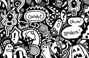 Spiders love candy by alakotila