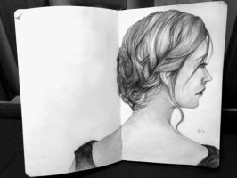 Study of hair by artistkitty88
