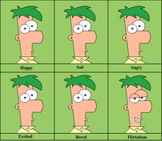 The Many Emotions of Ferb! by animegx43