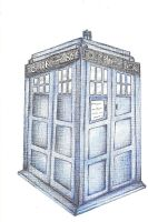 Tardis Colored Pencil View 2 by adriaeve
