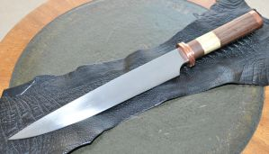 Medieval style bowie knife by Pammus