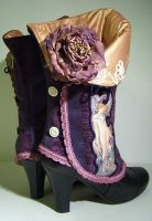Mucha Art Spats by MAIDESTREASURIES