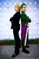 Sanji and Zoro ONE PIECE by LilithScream