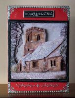 A Christmas Church in the Snow by blackrose1959
