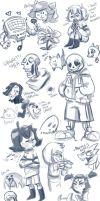 Undertale Sketchdump by DovahKriid