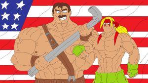 Alex and Haggar Team America by McGreger16