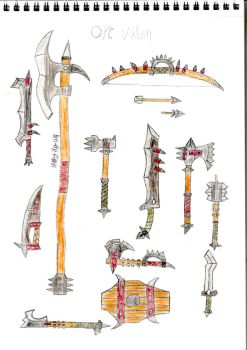 Orcs Weapons by Ben-The-fallen