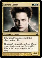 Edward Cullen Magic Card by Dralogel