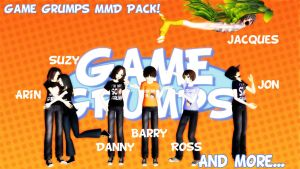 BIG-ASS GAME GRUMPS MMD PACK DOWNLOAD! by Shake666Productions
